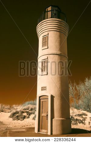 Manning Memorial Lighthouse In Infrared