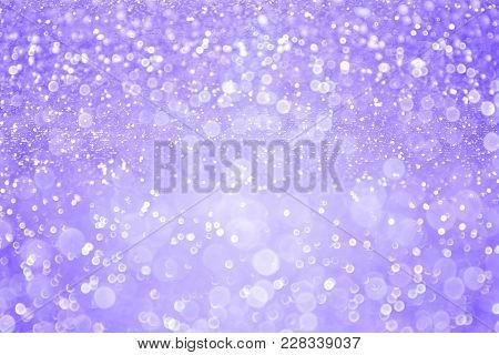 Elegant Lavender Purple Glitter Sparkle Confetti Background For Happy Birthday Invite, Girl Princess