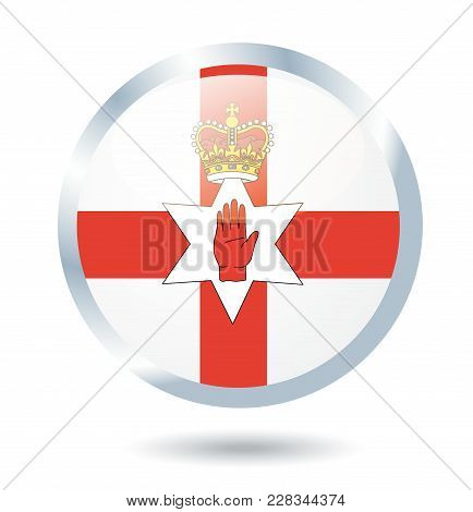 Northern Ireland Flag Illustration On White Background Art