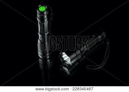 Black Anodized Aluminium Waterproof Tactical Flashlight
