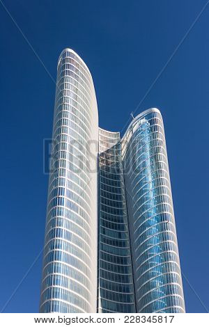 Abu Dhabi, Uae - March 27, 2006: The Abu Dhabi Investment Authority Building On A Clear Day In Abu D