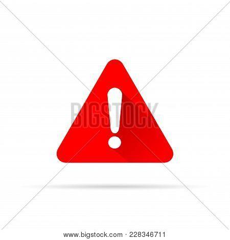 Illustration Of Alert Icon On White Background