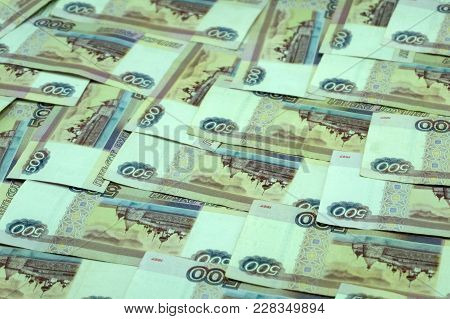Money Russian Banknotes Dignity Thousand, Five Hundred Rubles Background