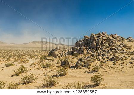 Pile Of Boulders In Sand Desert Wilderness