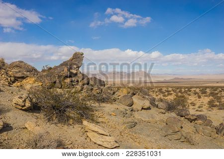 Rock Covered Desert Hillside