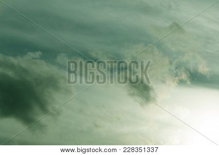 Green Cloud Texture Background Revival Sky Soft