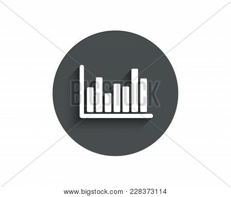 Column Chart Simple Icon. Financial Graph Sign. Stock Exchange Symbol. Business Investment. Circle F