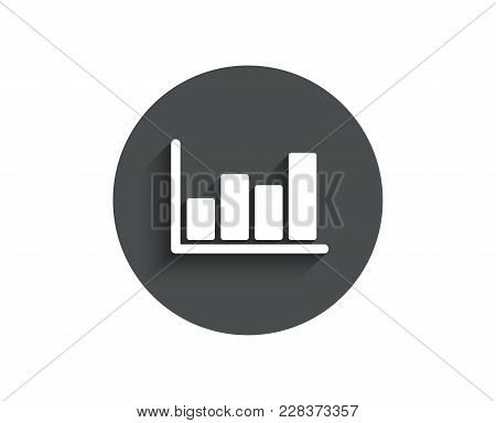 Histogram Column Chart Simple Icon. Financial Graph Sign. Stock Exchange Symbol. Business Investment