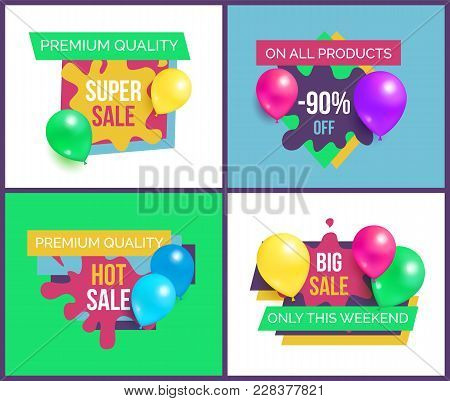 Premium Quality Total Sale On All Products 90 Off Hot Prices Only This Week Set Of Promo Stickers Wi