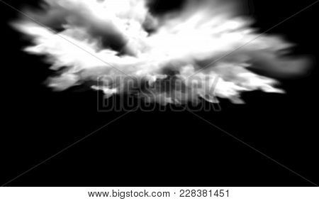 Eps10. Fog Or Smoke Isolated Transparent Special Effect. White Vector Cloudiness, Mist Or Smog Backg
