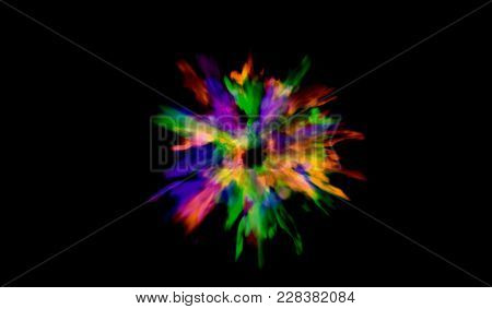 Eps10. Color Powder Explosion Background.colored Dust Paint Explode. Vector Illustration For Holi Co