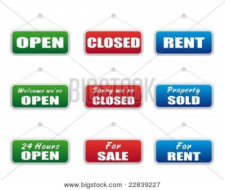 Collection Of Signboards
