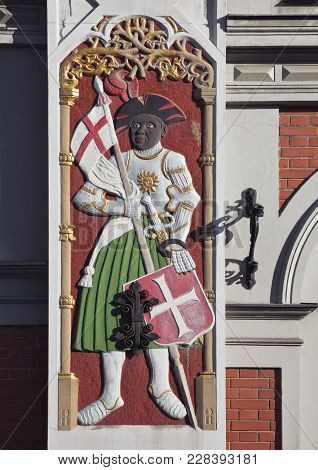 Bas-relief On The House Of The Blackheads In Riga, Latvia