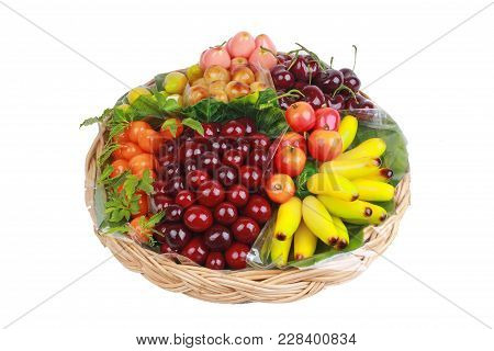 Popular Thai Dessert In Colorful Deletable Imitation Fruits,mung Beans That Make To Fruit-shaped And