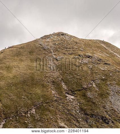 Blyst Mountain Peak Near Highest Peak Of Western Tatras Mountains Bystrafrom Bystre Sedlo Mountain P