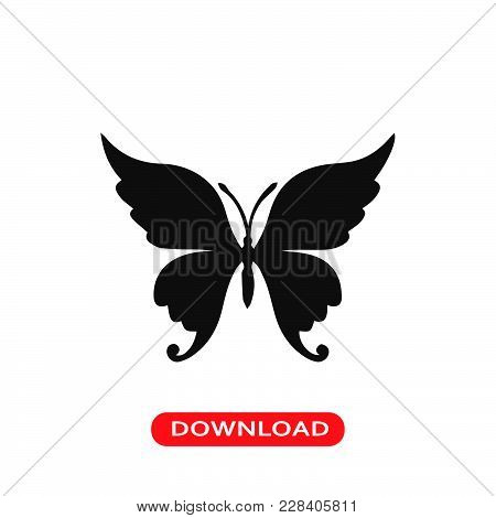 Butterfly Icon Vector In Modern Flat Style For Web, Graphic And Mobile Design. Butterfly Icon Vector