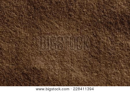 Felt Surface In Hazel Color. Abstract Background And Texture For Design.