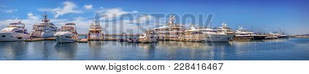 Sochi, Russia - May 21, 2016: Panoramic View Of The Pier.