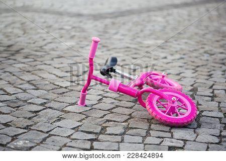 Kids Balance Pink Bike Used To Learn To Balance