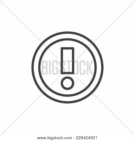 Warning Sign Outline Icon. Linear Style Sign For Mobile Concept And Web Design. Exclamation Point Si