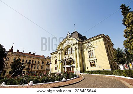 Opera Theater In The City Of Chernovtsy.