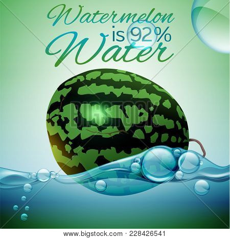 Watermelon Is Water-dense Fruit. Hydrate Yourself Well. Healthy Nutrition Concept. Eat Your Water. V