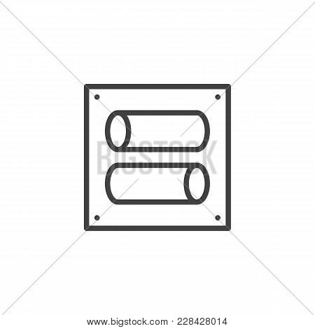Toggle Switch Outline Icon. Linear Style Sign For Mobile Concept And Web Design. Tumbler Simple Line