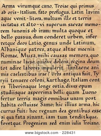 Latin Calligraphy (from Virgil's Aeneid)