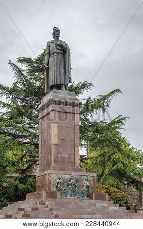 Statue Of 12th Century Georgian Poet Shota Rustaveli, Rustaveli Avenue, Tbilisi, Georgia