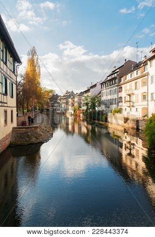 Petit France Medieval District Of Strasbourg Old Town, Alsace France