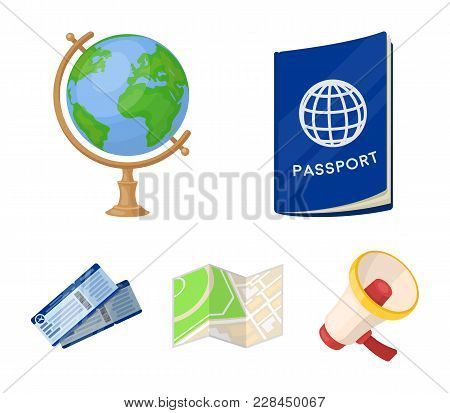 Vacation, Travel, Passport, Globe .rest And Travel Set Collection Icons In Cartoon Style Vector Symb