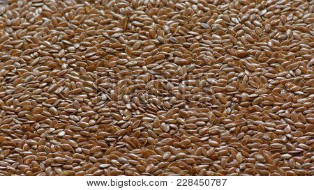 A Bunch Of Loose Seeds Of Flax