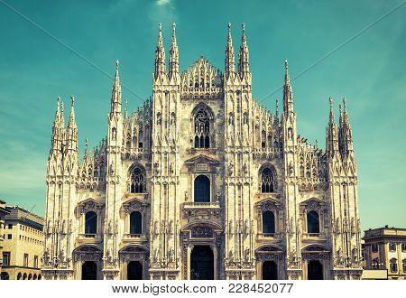 Milan Cathedral (duomo Di Milano), Italy. Milan Cathedral Is The Fifth Largest In The World. Milan C