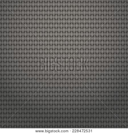 Abstract Geometric Patern With Rhombuses. A Seamless Vector Background. Black Texture. Graphic Moder