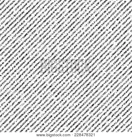Striped Diagonal Distressed Seamless Vector Pattern. Grungy Overlay Texture For Shading.