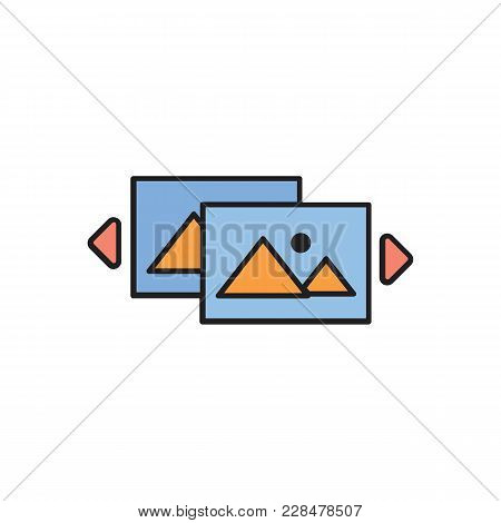 Virtual Reality Cartoon Icon. Virtual Reality Vector Illustration On White Background. Element For V