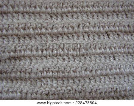 Winter Sweater Design. Grey Knitting Wool Texture Background. Knitted Fabric Texture. Knitted Jersey