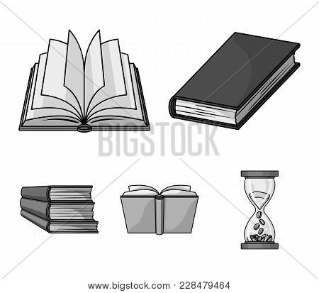 Various Kinds Of Books. Books Set Collection Icons In Monochrome Style Vector Symbol Stock Illustrat