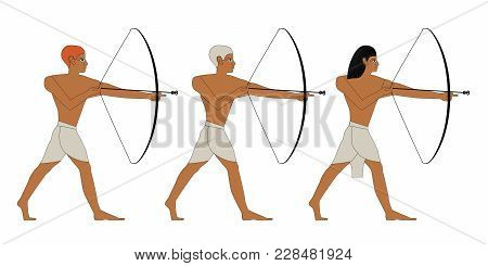 Ancient Egypt Archers Llustration, Man At Work, Group Of Warriors, Egypt Murals, Ancient Egypt Peopl
