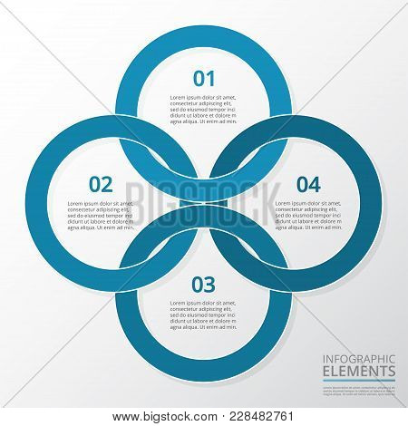Step By Step Infographic. Template With 4 Numbers Can Be Used For Workflow Layout, Diagram, Chart, N