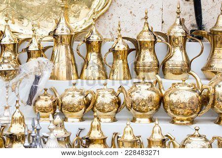 Traditional brass utensils in Janadriyah festival essay in Saudi Arabia