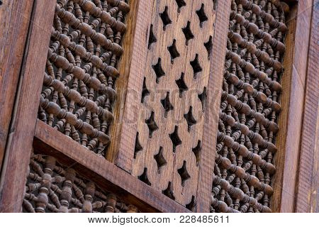 Wooden Mosaic And Traditional Windows In Egypt And Saudi Arabia