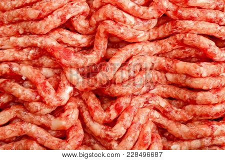 Fresh Minced Meat Seamless Texture. Close Up.