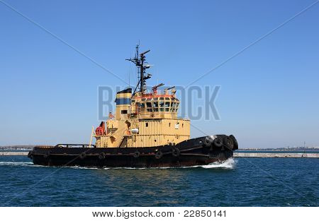tugboat at speed