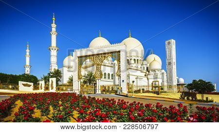 Imposing Sheikh Zayed Grand Mosque In Abu Dhabi 16