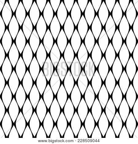 Seamless Geometric Pattern. Abstract Latticed Texture. Vector Art.