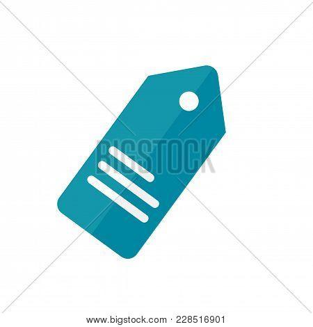 Price Tag Flat Icon On White Background. Sale Price Symbol.vector Illustration.