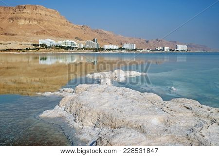 Hotels And Patterns From Salt On The Dead Sea Resorts In Ein Bokek