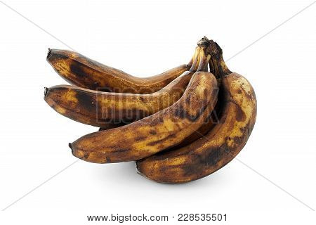 Spoiled Banana Isolated On A White Background Isolated