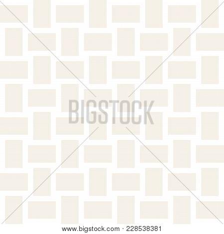 Trendy Monochrome Twill Weave Lattice. Abstract Geometric Background Design. Vector Seamless Subtle